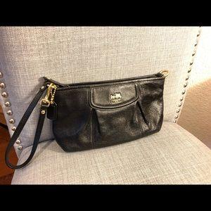 Coach Bags - Coach Black Leather Clutch - Gold Hardware